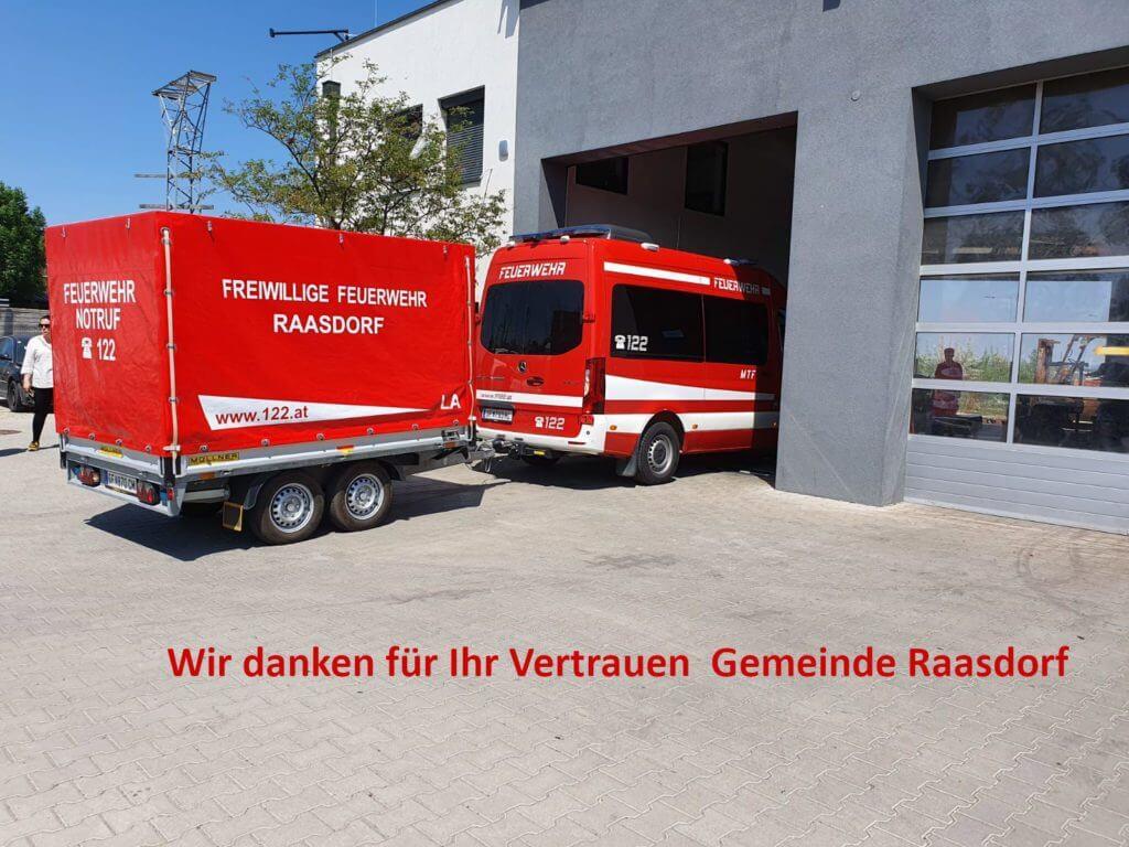Hiermit möchten Wir uns bei unserer Gemeinde Raasdorf für das Vertrauen in unsere Leistungen bedanken.